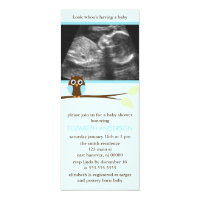 baby shower invitations with ultrasound picture