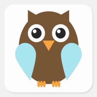 Blue Owl Square Sticker