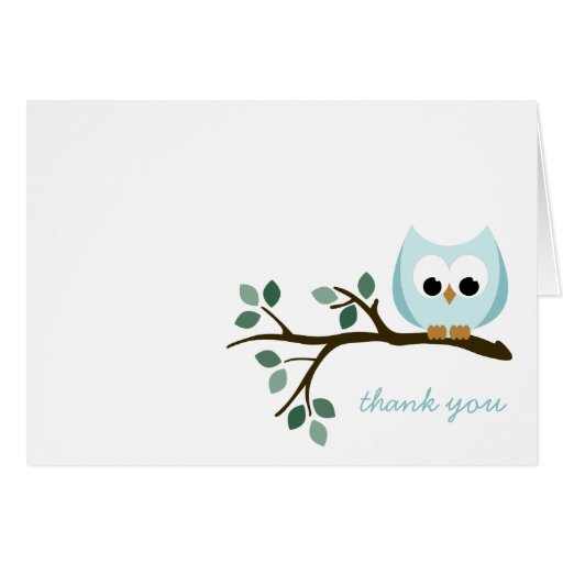 Blue Owl Thank You Card