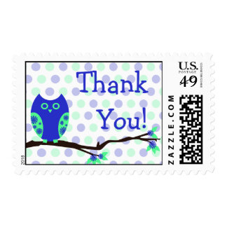 Blue Owl Thank You Postage