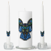 Blue Owl Unity Candle Set
