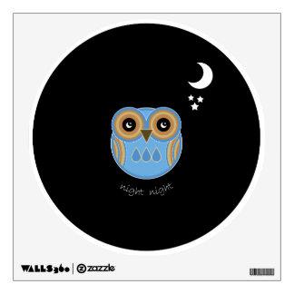 Blue Owl Wall Decal - Night Night Blue Owl