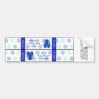 Blue Owl Water Bottle Labels Personalized Car Bumper Sticker