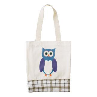 Blue Owl Zazzle HEART Tote Bag