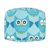 Blue Owls (2).jpg Pouf
