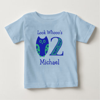 Blue Owls 2nd Birthday Personalized T-Shirt