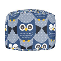 Blue Owls (3).jpg Pouf