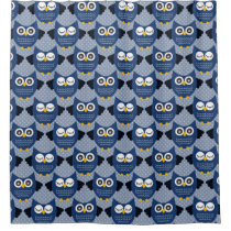 Blue Owls (3).jpg Shower Curtain