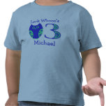 Blue Owls 3rd Birthday Personalized T-Shirt