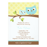 Blue Owls Baby Shower Invitations Custom Invite