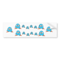 blue owls bumper sticker