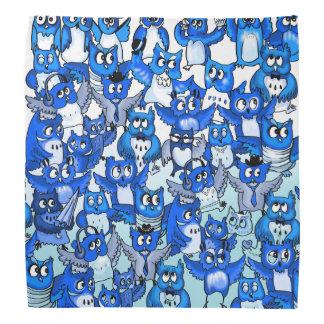 Blue owls cute pattern bandana