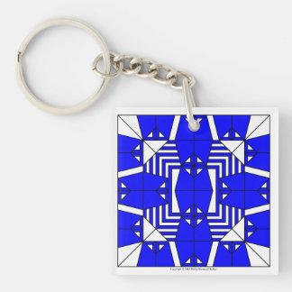 Blue Owls Key Chain
