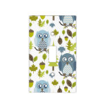 Blue Owls Light Switch Cover