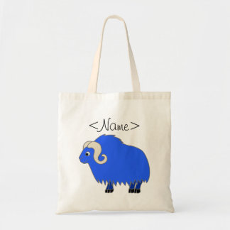Blue Ox with Curled Horns Tote Bag