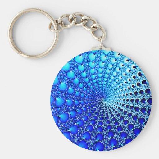 blue-oyster-spiral keychain