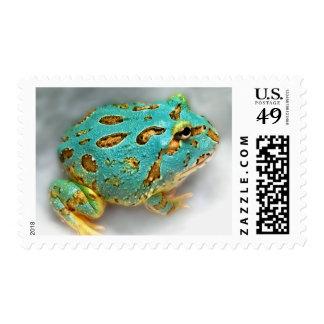 Blue Pac-Man Frog – Waiting, Waiting, Gotcha! Postage