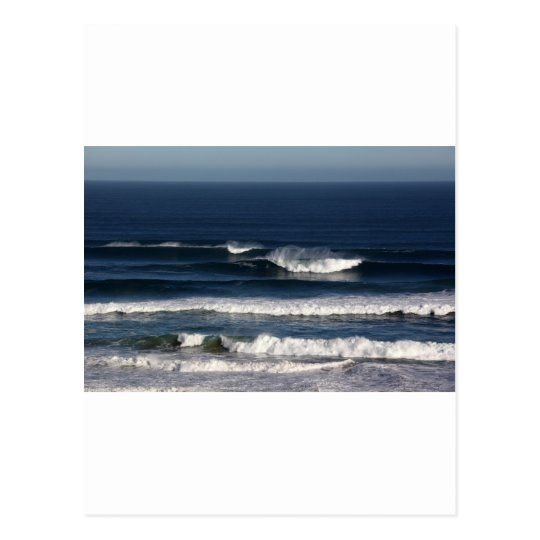Blue Pacific ocean surf Postcard