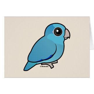 Blue Pacific Parrotlet Card