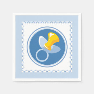 Blue Pacifier   Baby Boy Shower Napkin