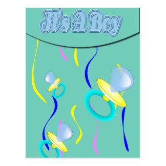 Blue Pacifier It's A Boy Postcard