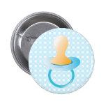 Blue Pacifier Pinback Button