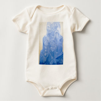 Blue Pagan Church(surreal architecture) Baby Bodysuit