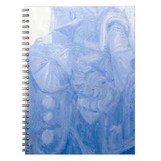 Blue Pagan Church(surreal architecture) Spiral Note Book