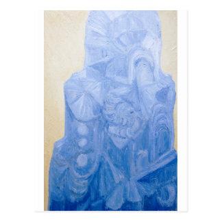 Blue Pagan Church(surreal architecture) Postcard