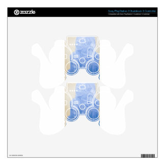 Blue Pagan Church(surreal architecture) Skins For PS3 Controllers