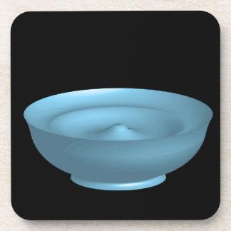 Blue paint bowl beverage coaster