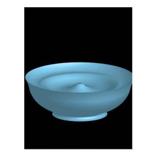 Blue paint bowl postcard