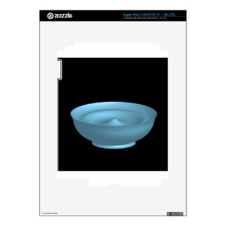 Blue paint bowl skins for iPad 3