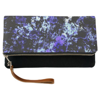 Blue Paint Clutch Bag