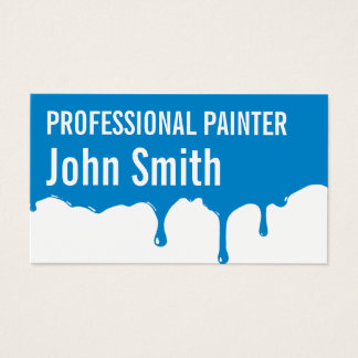Blue Paint Dripping Painter business card