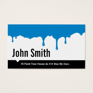 Blue Paint Dripping Painting Service business card