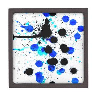 Blue Paint Drips Gift Box