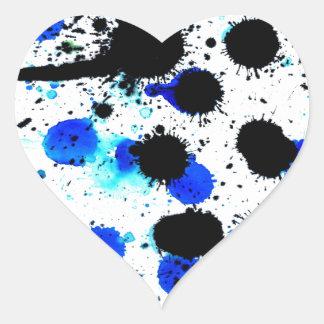 Blue Paint Drips Heart Sticker