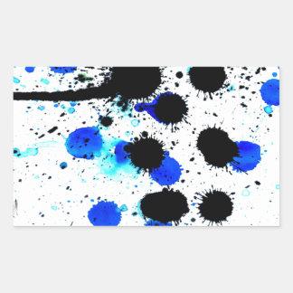 Blue Paint Drips Rectangular Sticker