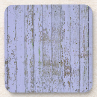 Blue paint old wooden wall drink coasters