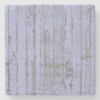 Blue paint old wooden wall stone coaster