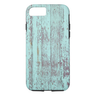 Blue paint old wooden wall iPhone 7 case