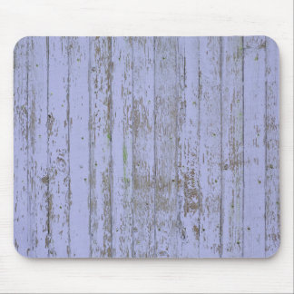 Blue paint old wooden wall mouse pad