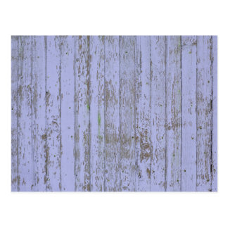 Blue paint old wooden wall postcard