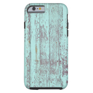 Blue paint old wooden wall tough iPhone 6 case