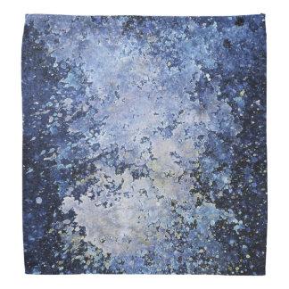 Blue Paint Splash White Acid Wash Texture Bandana