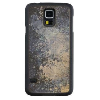 Blue Paint Splatter Acid Wash Texture Carved® Maple Galaxy S5 Slim Case