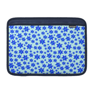 Blue Paint Splatter Jewish Stars MacBook Air Sleeves
