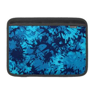 Blue Paint Splatter MacBook Sleeves