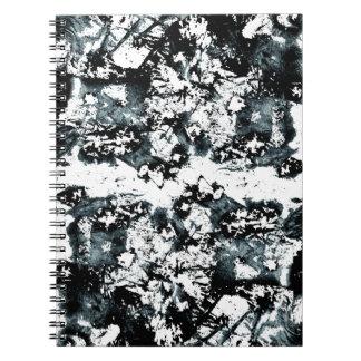Blue Paint Splatter Notebook